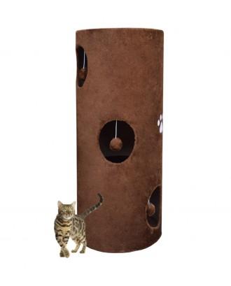 Bokštas draskyklė katinams 100cm Rudas